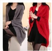 Womens Long Sweater Fashion Women's Cardigans Long Cardigans Shawl Batwing Sleeve Coat Leasure Wraps fashion and popular W00365