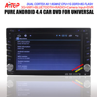 FREE SHIPPING Android 4.4.2 CAR DVD PLAYER Bluetooth+Radio+Capacitive Touch Screen+free 8G map+radio+ Dual core cortex A9
