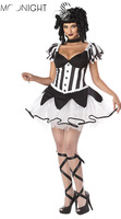 2015 New Arrival Sexy Clown Costume Circus Costume Halloween Carnival Women Clothes Free Shipping