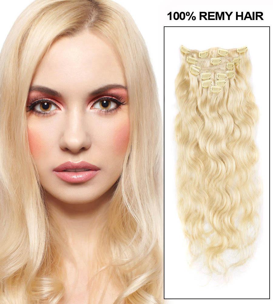Blonde Fine Clip in Hair