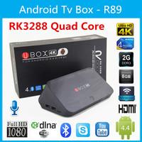 Newest Vsmart R89 Android 4.4 RK3288 Cortex-A17 Quad core 2GB 8GB Tv box Support 4Kx2K,Full HD1080P DLNA WiFi Bluetooth