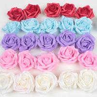 PE DIAMETER 4CM rose head artificial flower cloth Decorative Flowers wedding flowers 100pcs /lot