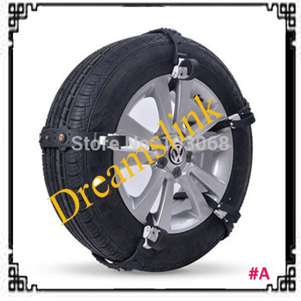 10pcs/Set Car Snow Tire Anti-skid Chains Thickened Beef Tendon Vehicles Wheel Antiskid TPU Chain SIZE A(China (Mainland))