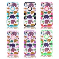 For  iPhone 6  The Elephant Silicone +PC 4.7 Inch Case Cover