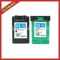 Compatible ink cartridges for HP 131 Black & 135 Color Cartridge For HP Photosmart 2710/2610/325/ PSC 2355 DeskJet 6840/5740