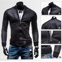 Free shipping 2014 new men's leather jacket men leather o-neck jackets for men skin jacket coat ZPY25