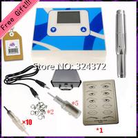 Permanent Makeup Supply Eyebrow Lip Complete Tattoo Kits Power Supplies Round Tattoo Gun Machine 013P