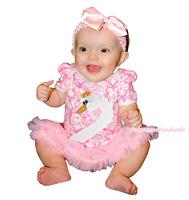 Swan Head Pink Damask Bodysuit Pink Girl Baby Dress NB-18Month MAJS0460