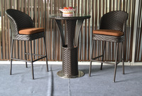 2015 hot selling wicker/rattan  bar table and chair set