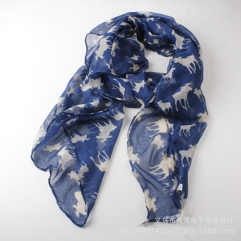 Free shipping New Design fashion animal moose print scarf Hot sale winter elk scarf big size 180*100(China (Mainland))