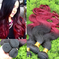 Ombre Hair Extensions 6A European Virgin Hair Body Wave Two Tone 1B/99J Color 3PC Lot Human Hair weaves Cara Hair Products