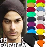2014 autumn fashion men women caps winter hat cool fashion solid color cotton hat knitting headgear multi color
