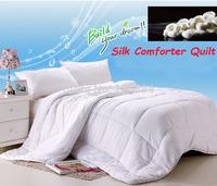 Free Shipping silk comforter,200 x 230cm 150 x200cm size white silk blanket,Silk and imitation silk filler,winter silk quilt