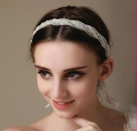 12pcs/lot Charming Bride Crystal Hairwear Headpiece Headdress Wedding Prom Ladies Head Chain Hair Adornment jt104(Hong Kong)
