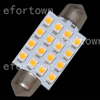 20pcs Warm White 41MM 16 3528 Festoon Dome Map Interior LED Light Roof Bulb 24V  for good price free shipping