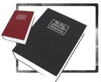 Hot Black Steel Dictionary Hidden Secret Book Safe Money Box Security Key Lock