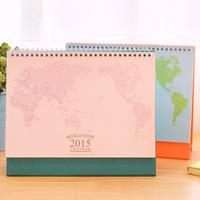 New 2015 World Map calendar / desktop calendar / 2015 calendar   3802   0.33kg