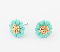 Sweet Daisy Stud Earrings Lovely Floral Studs Flowers Ear Accessory New Fashion Earrings for Women BJE94644