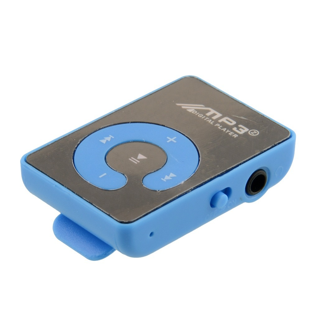 Mini Mirror Surface Clip Mp3 Sport Music Player 6 color to choose New Free shipping(China (Mainland))