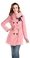 New  Fashion Women Coat Winter Plus Size Women Clothing Slim Long Double-breasted Winter Women's Wool Coat
