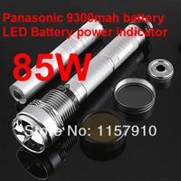 FreeShipping Flashlight  hid flashlight brighter than cree LED flashlight 9300mah battery Aluminium flashligth