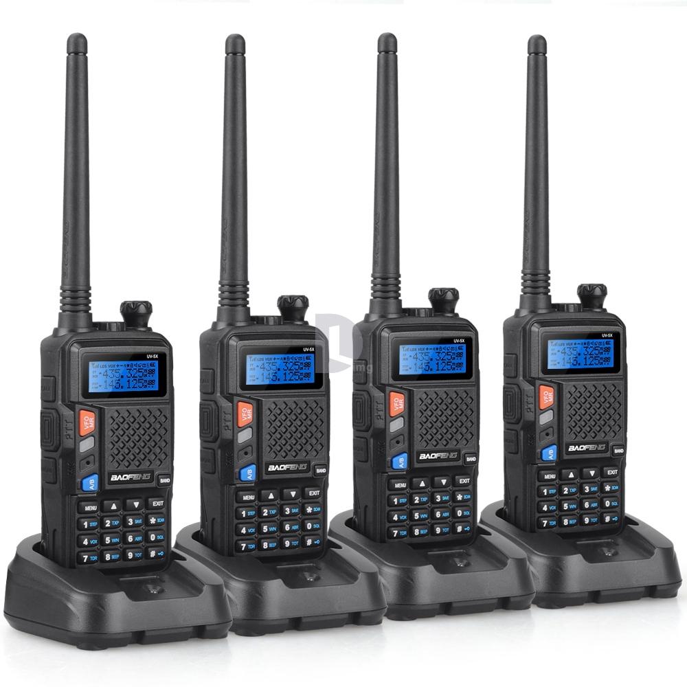 New 4pcs Upgraded Version of UV-5R BAOFENG UV-5X UHF+VHF Two-Way Radio Walkie Talkie with Original Custom Desigh Mother Board(China (Mainland))