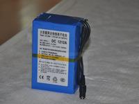 Free shipping12V 12000mAh Rechargeable Li-ion Lithium Battery super Rechargeable Li-ion Battery+1A charger  DC 1212A 5pcs/pack
