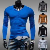 2014 New arrival man's Casual T-shirt slim shirt Very comfortable t-shirt fit stylish long-sleeve shirt free shipping ZT61
