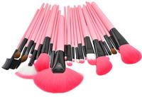 Professional Pony Hair Maquillage Brushes Set & Kits 24pcs Makeup Brushes For Pink Makeup Tool Kit pincel maquillaje maquiagem