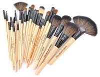HOT!! 24pcs Wooden Handle Makeup Brushes Set Cosmetics Tools Kit with PU bag Maquillage maquillaje trucco pincel maquiagem