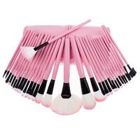 Fashion Pink Makeup Brushes 32 Pcs Professional make Up brushes Set Leather Case Maquillage pincel maquillaje trucco maquiagem