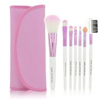 Pink Professional 7 PCS Makeup Brush Set Toiletry Kit Wool Brand Make Up Brush Set Case  Maquillage pinceis maquiagem