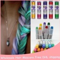 1pcs/lot Easy Temporary 12 Colors Non-toxic Hair Chalk Dye Hair Extension Kit Chalk Pastel Hair color FREE SHIPPING