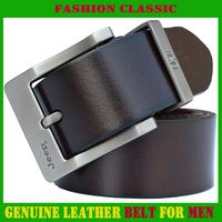 Genuine leather Men's Belts Cattle leather belts Leisure Alloy Needle Buckle belt for men