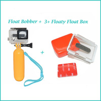 Gopro Accessories PP Material Bobber Floating Handheld Monopod Stick Floaty Grib + Floaty  Float Box  for Go pro Hero3+