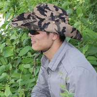 2014 Fashion Outdoor Hat High Quality Sunshade UV Protection Bucket Hat Men Jungle Camouflage Bucket Hats 9 colors