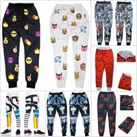 Alisister New hip hop jogging pants black-white sweatpants 3d printed men/women emoji joggers pants Couples sport pants clothing