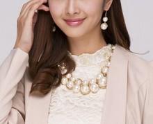 Pearls bib necklace/Luxury designer jewerly women 2014 wedding accessories/bijouterias/colar/perolas/joyas/gargantilha/bijuteria