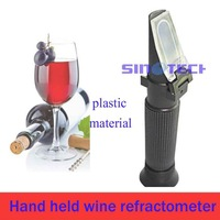 Free shipping Hand-held Wine 0-80%W/W  alcohol Refractometer P-RHW-80ATC with Automatic temperature compesation