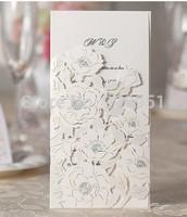 2015Teda WM205 Wishmade Best Sale Laser Cut Wedding Invitation Card  blank insert with Envelope