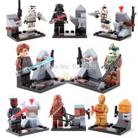 Good Quality Star War Anakin C-3PO stormtrooper 8pcs/lot building blocks mini figures birthday gift toy free ship