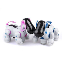Lovely Electronic Robot Walking Dog Puppy Toy Music Shine Pet Safe Kids Toy Lights Freeshipping