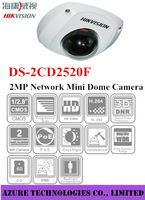 Original Hikvision 2MP IP Camera IP66 Mini Dome Vandal-proof  Waterproof DS-2CD2520F 4mm Lens  SD Card Camera cctv camera