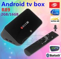 R89 Android TV BOX RockChip RK3288 Quad Core 1.8GHz 2G/16G 2.4G/5GHz WiFi bluetooth OTA  4K*2K RJ45 OTG SPDIF Smart TV