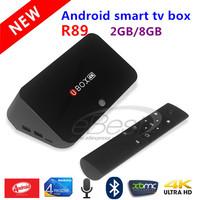 UBOX R89 RK3288 Android TV BOX Quad Core 1.8GHz 2G/8G H.265 XBMC OTA HDMI 4K*2K WiFi RJ45 OTG SPDIF Android 4.4 RK3288 Smart TV