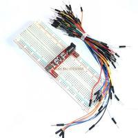 Freeshipping ! 3.3V/5V Breadboard power module(red)+830 points Bread board +65 Flexible jumper wires