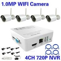New ! CCTV 4CH wireless night vision video surveillance ip wifi camera system 4ch 720P/960P/1080P NVR recorder kit+Free Shipping