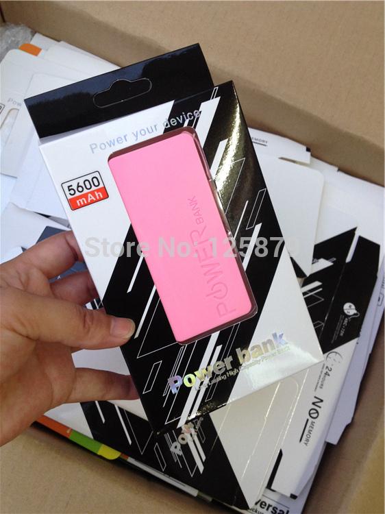 Customer Sample Order !! 20sets original external battery,portable external usb 5600mah cell phone battery,usb mobile charger(China (Mainland))