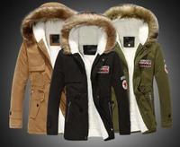 S-2XL down & parkas 2014 new winter men in long hooded warm outwear coat Korean Slim winter coat mens jackets and coats