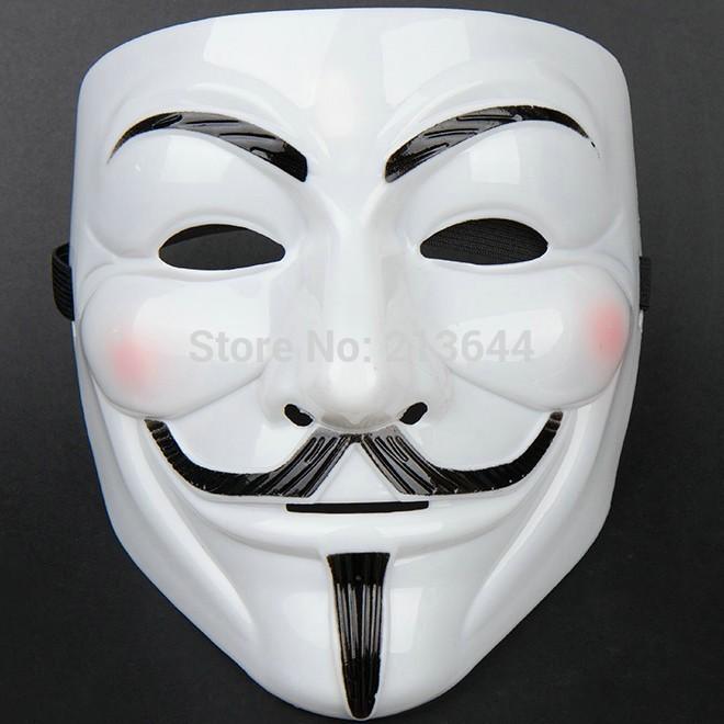 Atacado moda 100 Pcs V vendetta equipe Guy Fawkes Masquerade Halloween carnaval festivo do partido máscara DIY fazendo descobertas M2975(China (Mainland))